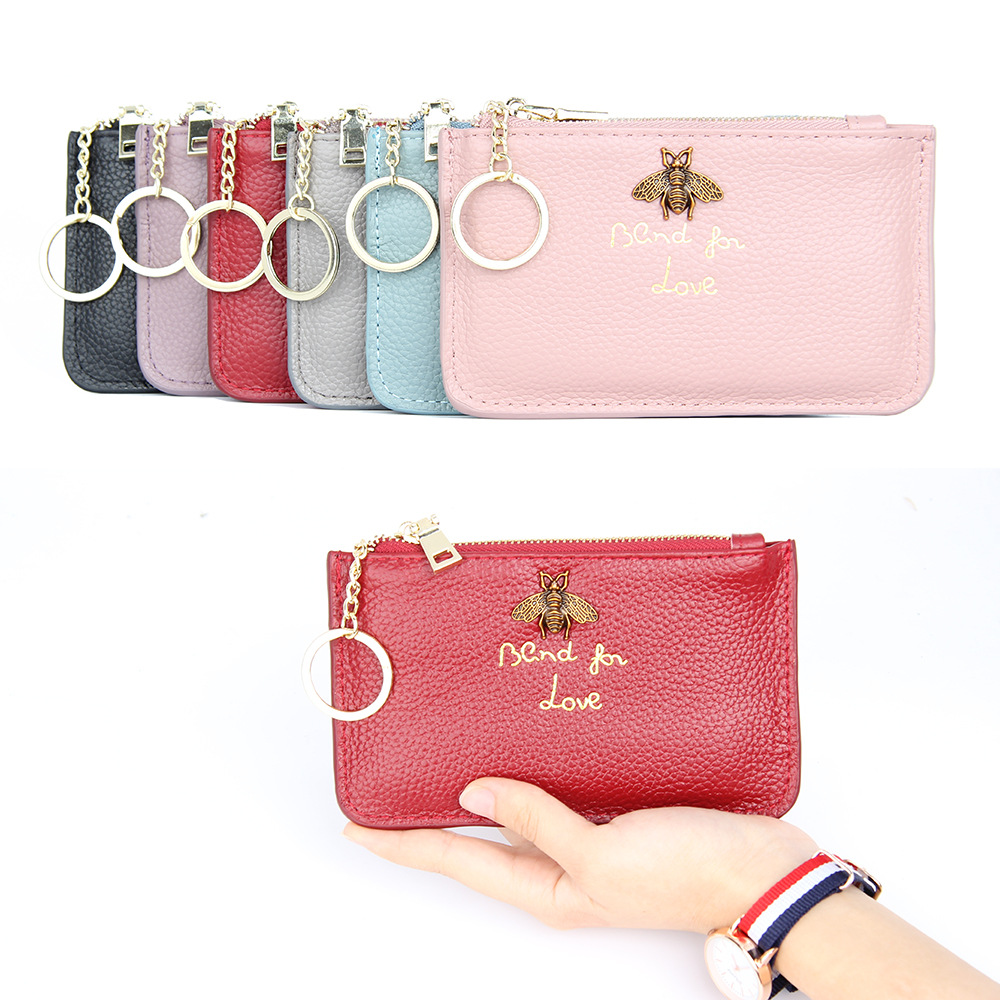 leather key chain wallet and key pouch wallet