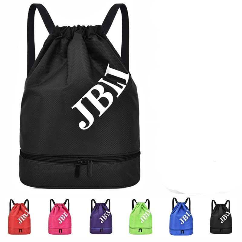 backpack portable Korean version travel dry and wet separation outdoor sports fitness swimming beach bag drawstring